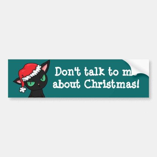 Pegatina para el parachoques anti del navidad del  etiqueta de parachoque