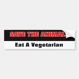 Pegatina para el parachoques Anti-PETA Pegatina Para Auto