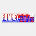 Pegatina para el parachoques Anti-Romney Pegatina De Parachoque