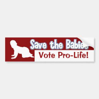 Pegatina para el parachoques antiabortista: ¡Ahorr Pegatina Para Auto