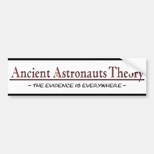 Pegatina para el parachoques antigua de la teoría  etiqueta de parachoque