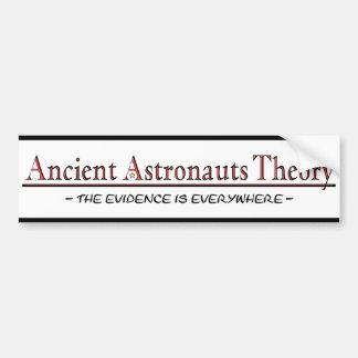 Pegatina para el parachoques antigua de la teoría  pegatina para auto