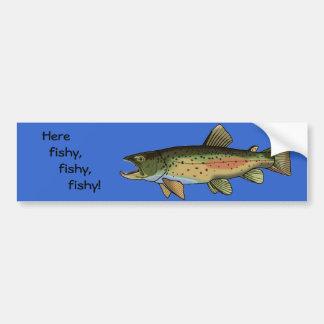 Pegatina para el parachoques aquí a pescado pegatina para auto