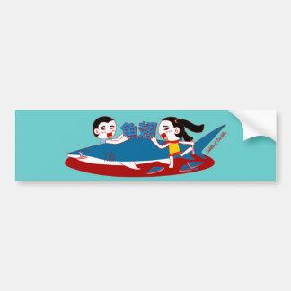 Pegatina para el parachoques artificial del Doodle Pegatina Para Auto