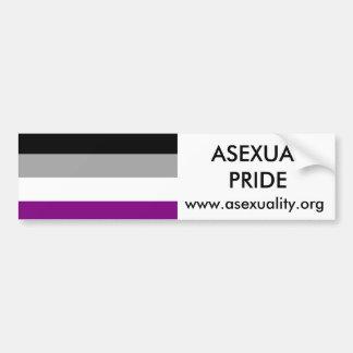 Pegatina para el parachoques asexual 2 del orgullo pegatina de parachoque