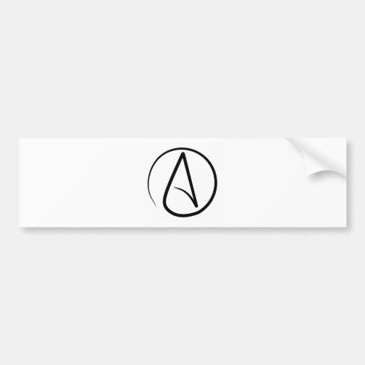 Pegatina para el parachoques atea del símbolo pegatina para auto