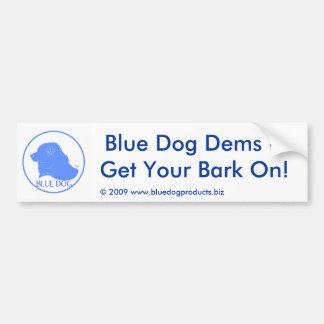 Pegatina para el parachoques azul de Demócrata del Pegatina Para Auto