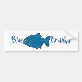 Pegatina para el parachoques azul de la piraña pegatina para auto