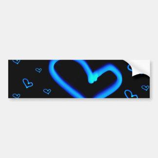 Pegatina para el parachoques azul de los corazones pegatina para auto