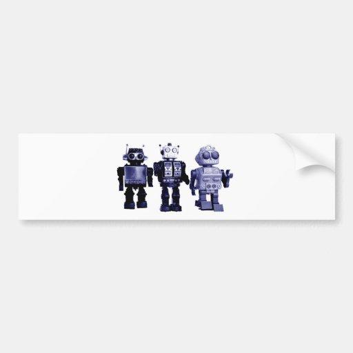 pegatina para el parachoques azul de los robots pegatina para auto