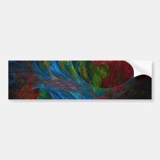 Pegatina para el parachoques azul del arte abstrac pegatina de parachoque
