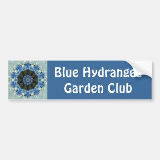 Pegatina para el parachoques azul del caleidoscopi etiqueta de parachoque