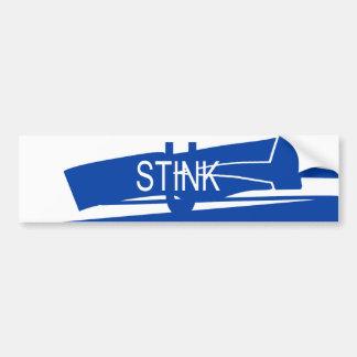 Pegatina para el parachoques azul y blanca del hed pegatina para auto