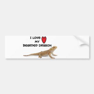 Pegatina para el parachoques barbuda del dragón pegatina para auto