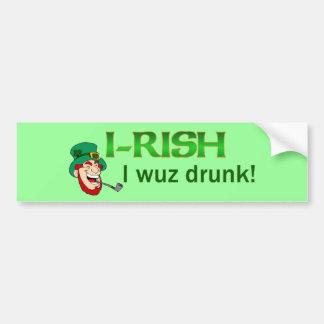 Pegatina para el parachoques bebida Wuz del irland Pegatina Para Auto