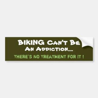 Pegatina para el parachoques Biking chistosa Etiqueta De Parachoque