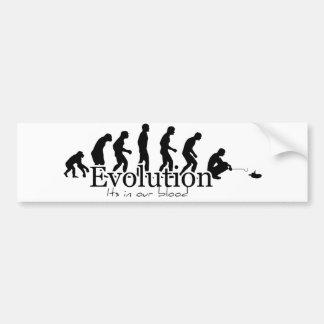 Pegatina para el parachoques blanca de la evolució pegatina para auto