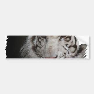 Pegatina para el parachoques blanca del tigre etiqueta de parachoque