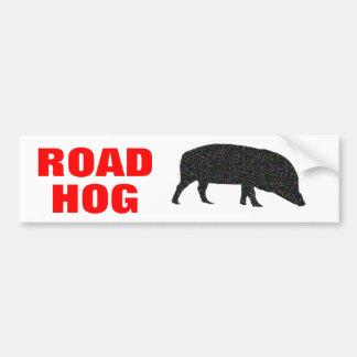 Pegatina para el parachoques brillante del cerdo d pegatina para auto