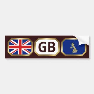 Pegatina para el parachoques BRITÁNICA del código  Etiqueta De Parachoque