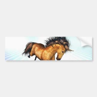 Pegatina para el parachoques Bucking del unicornio Etiqueta De Parachoque