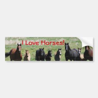 ¡Pegatina para el parachoques - caballos del amor  Etiqueta De Parachoque