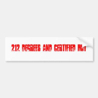 Pegatina para el parachoques caliente certificada pegatina para auto