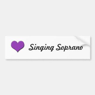 Pegatina para el parachoques cantante del soprano etiqueta de parachoque