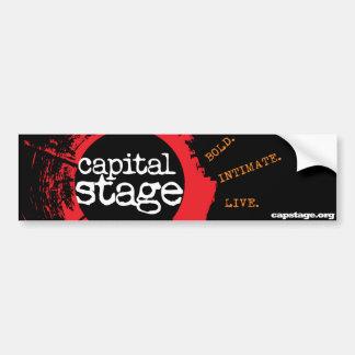 Pegatina para el parachoques capital de la etapa etiqueta de parachoque