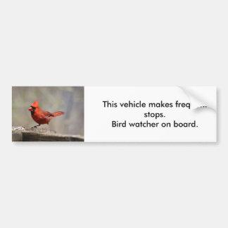 Pegatina para el parachoques cardinal del pegatina para auto