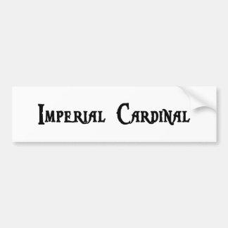 Pegatina para el parachoques cardinal imperial pegatina de parachoque