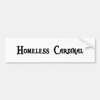 Pegatina para el parachoques cardinal sin hogar pegatina de parachoque
