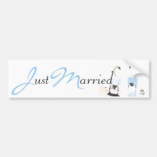 Pegatina para el parachoques casada de la fidelida pegatina para auto