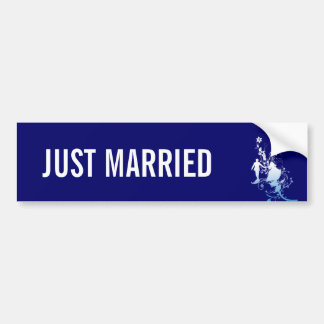 Pegatina para el parachoques casada de novia y del pegatina para auto