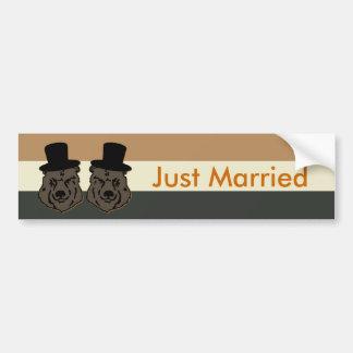 Pegatina para el parachoques casada del orgullo pegatina para auto