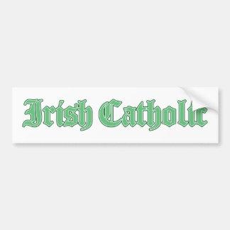 Pegatina para el parachoques católica irlandesa pegatina para auto