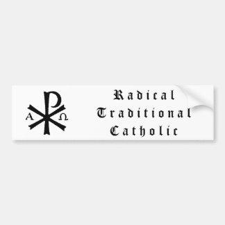 Pegatina para el parachoques católica tradicional  pegatina para auto