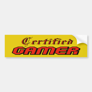 Pegatina para el parachoques certificada del video pegatina para auto