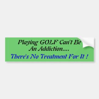Pegatina para el parachoques chistosa del golf pegatina de parachoque
