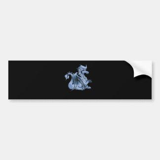 Pegatina para el parachoques coa alas azul del dra etiqueta de parachoque