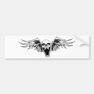 pegatina para el parachoques coa alas del cráneo pegatina para auto