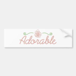 Pegatina para el parachoques color de rosa adorabl pegatina para auto