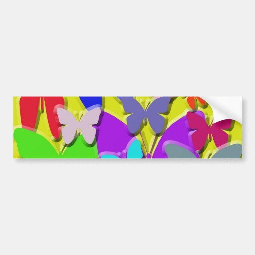 Pegatina para el parachoques colorida de las marip pegatina de parachoque