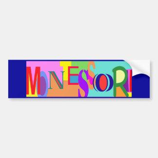 Pegatina para el parachoques colorida de Montessor Pegatina De Parachoque