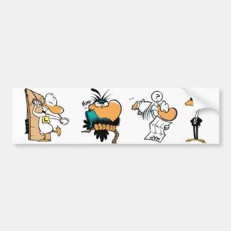 Pegatina para el parachoques cómica de los pájaros pegatina de parachoque