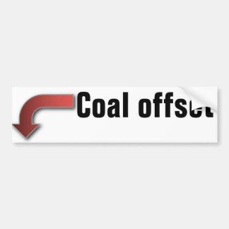 Pegatina para el parachoques compensada del carbón pegatina para auto