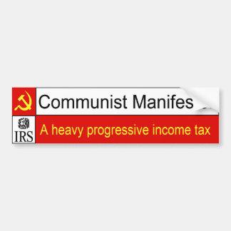 Pegatina para el parachoques comunista del IRS Pegatina Para Auto