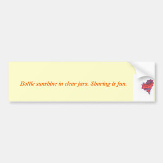 Pegatina para el parachoques con el corazón pegatina para auto
