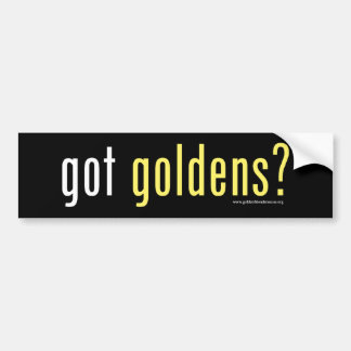 Pegatina para el parachoques conseguida de Goldens Pegatina Para Auto