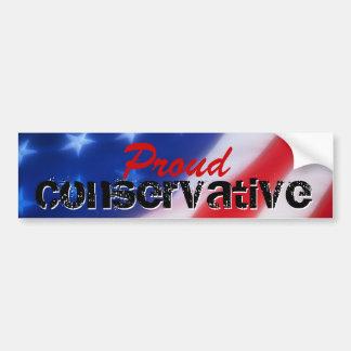 Pegatina para el parachoques conservadora orgullos etiqueta de parachoque